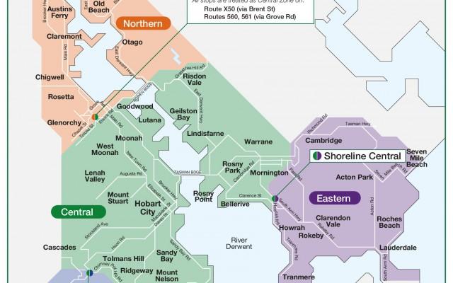 Hobart Urban Zones