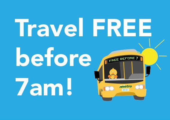 Free earlybird travel in Hobart until 23 February 2018