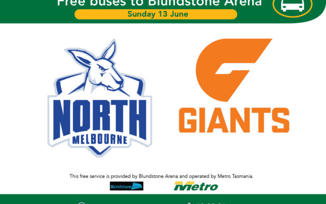 Travel advice for AFL North Melbourne v Greater Western Sydney Sunday 13 June